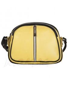 Włoska mała skórzana listonoszka skóra cieleca limonka (2119)