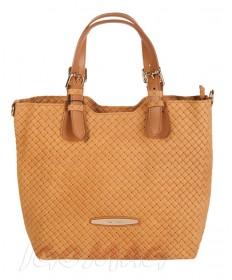 Pierre Cardin - Włoska torebka shopper bag camel (2129)